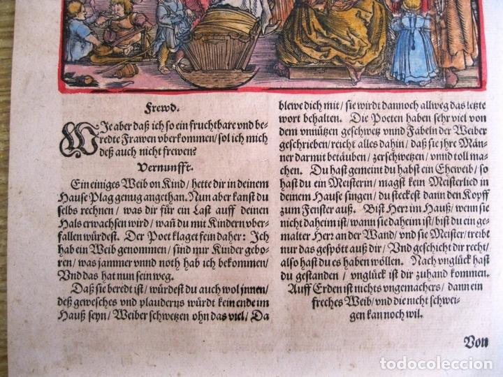 Arte: 2 grabados: escena erótica y familiar 1532. Hans Weiditz - Foto 9 - 169468285
