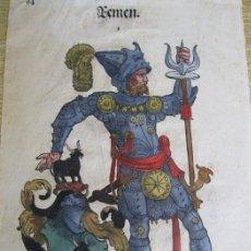 Arte: 2 GRABADOS DE CABALLEROS DEL RENACIMIENTO, 1580. HANS WEIDITZ. Lote 169468509