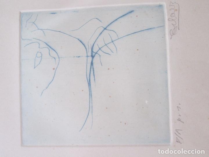 Arte: JOSE ANTONIO ESLAVA - GRABADO DEL ARTISTA NAVARRO - ENMARCADO Y FIRMADO - PRUEBA DE AUTOR 1 - 44X59 - Foto 2 - 169775124