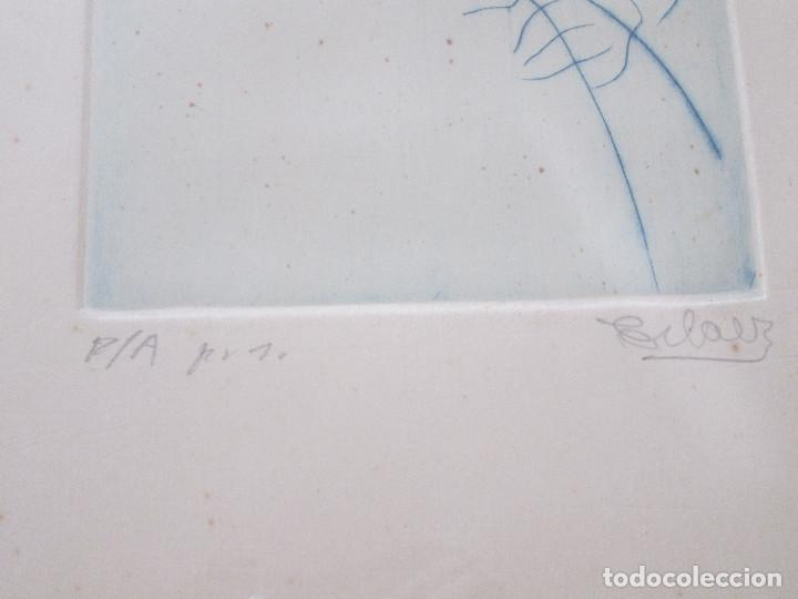 Arte: JOSE ANTONIO ESLAVA - GRABADO DEL ARTISTA NAVARRO - ENMARCADO Y FIRMADO - PRUEBA DE AUTOR 1 - 44X59 - Foto 6 - 169775124