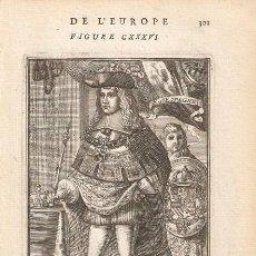 Arte: RETRATO DEL REY CARLOS II DE ESPAÑA DE 1685. Lote 169957676