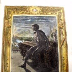 Arte: ESCENA MITOLOGÓGICA: ESTATUA DE MEMNON, 1733. BERNARD PICART. Lote 170229617