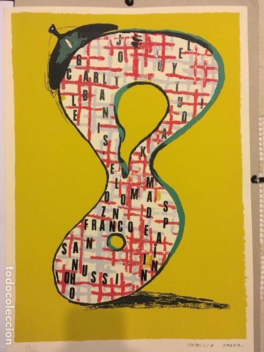 PATRICIA GADEA. SERIGRAFÍA, 35X 50 CM. GALERÍA SEN (Arte - Grabados - Contemporáneos siglo XX)