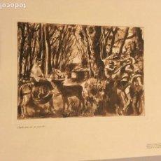 Arte: JESÚS MOLINA. GRABADO. CADA UNO EN SU PUESTO [GUERRA CIVIL] 1937. Lote 170353004