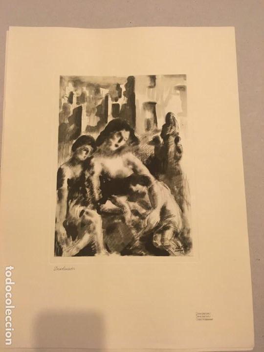 SERVANDO DEL PILAR. GRABADO. DESOLACIÓN [GUERRA CIVIL] 1937 (Arte - Grabados - Contemporáneos siglo XX)