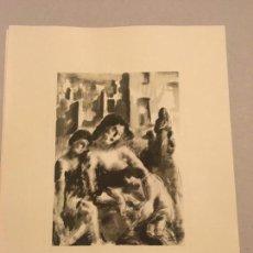 Arte: SERVANDO DEL PILAR. GRABADO. DESOLACIÓN [GUERRA CIVIL] 1937. Lote 170353112