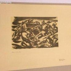 Arte: RAMÓN PUYOL. GRABADO. HÉROES DE LA SIERRA [GUERRA CIVIL] 1937. Lote 170353260
