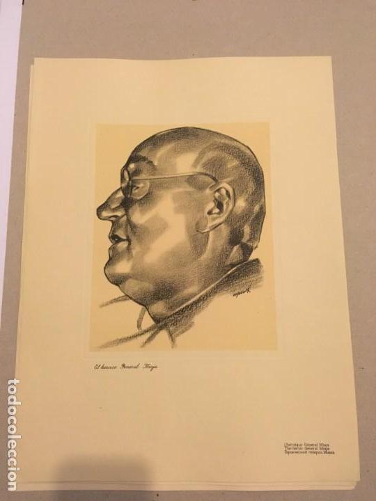 JOSÉ ESPERT. GRABADO. EL HEROICO GENERAL MIAJA [GUERRA CIVIL] 1937 (Arte - Grabados - Contemporáneos siglo XX)
