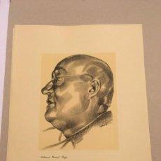 Arte: JOSÉ ESPERT. GRABADO. EL HEROICO GENERAL MIAJA [GUERRA CIVIL] 1937. Lote 170353352