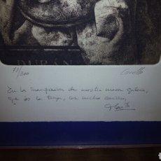 Arte: GRABADO PARA EXPOSICION DE SUBASTAS DURAN, FIRMADO CARRILLO, NUMERADA.. Lote 171260343