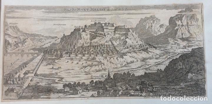ANTIGUO GRABADO SIGLO XVIII, MONT MELIAN DU COSTE DE LA PEROUSE 30X14 (Arte - Grabados - Contemporáneos siglo XX)