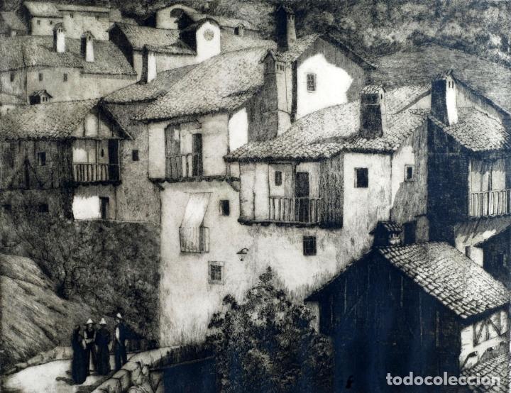 Arte: Paisaje rural grabado de Luis Alegre Nuñez Madrid 1918 1969 - Foto 2 - 171406822