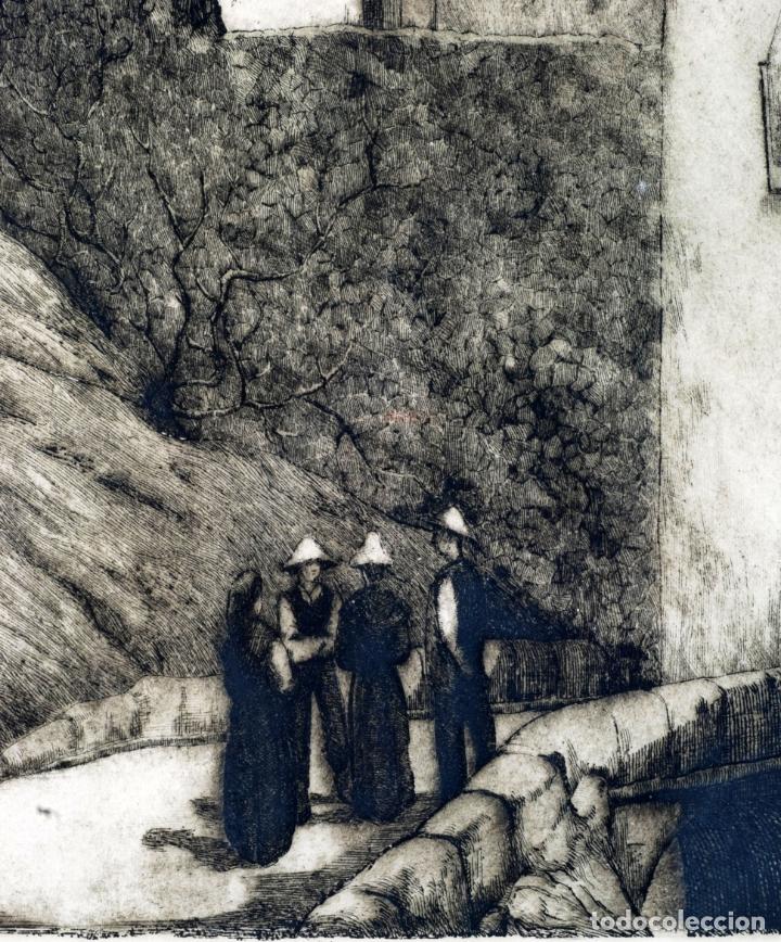 Arte: Paisaje rural grabado de Luis Alegre Nuñez Madrid 1918 1969 - Foto 3 - 171406822