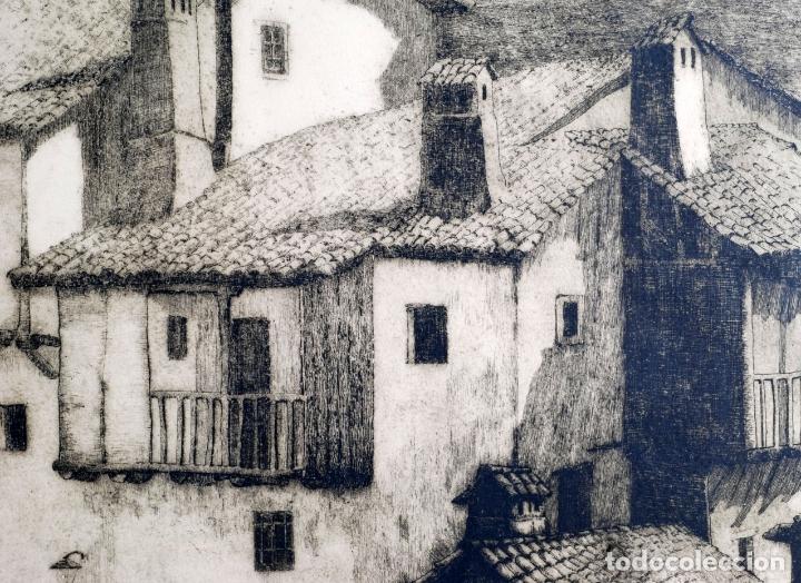 Arte: Paisaje rural grabado de Luis Alegre Nuñez Madrid 1918 1969 - Foto 4 - 171406822