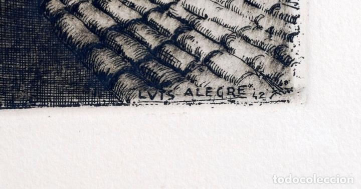 Arte: Paisaje rural grabado de Luis Alegre Nuñez Madrid 1918 1969 - Foto 5 - 171406822