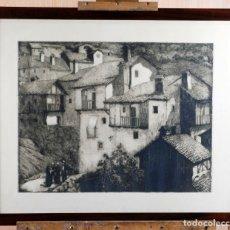 Arte: PAISAJE RURAL GRABADO DE LUIS ALEGRE NUÑEZ MADRID 1918 1969. Lote 171406822
