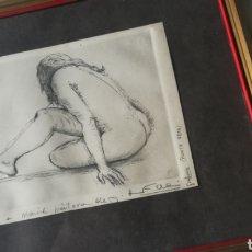 Arte: ANTIGUO GRABADO A LA PUNTA SECA, FIRMADO. Lote 171492469
