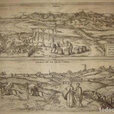 Arte: GRABADO DE CONIL / XERES DE LA FRONTERA (JEREZ). 1572.. Lote 171528132