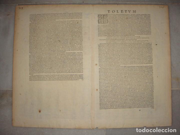 Arte: Grabado de Toledo / Toletum. Vista de pájaro. 1566 - Foto 7 - 171531827