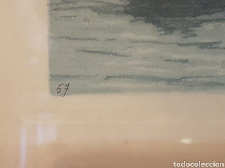 Arte: Arte. Grabado litografia pintada motivo pescadores numerada 57 firmada - Foto 5 - 171568485