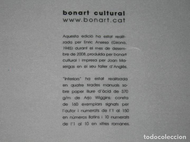 Arte: GRABADO de Enric Ansesa - Interiors - 2008 - Serie Firmada y Numerada 54 de 150 - Foto 5 - 171615759