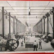 Arte: 1880 - BARCELONA - FABRICA TEJIDOS SERT HERMANOS Y SOLA - GRANDES DIMENSIONES. Lote 171757809