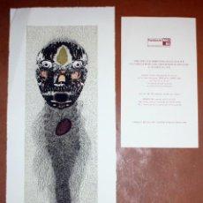 Arte: ZUSH - AGUAFUERTE - 20/95 - FUNDACIO MACBA - POLIGRAFA - 73 X 29,5 CM.. Lote 172060514