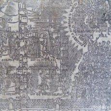 Arte: LIBRERIA GHOTICA. RARO GRABADO DE MÍSTICA SOBRE LA GLORIA CELESTIAL.1850.FOLIO.. Lote 172062232