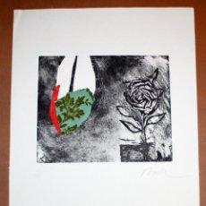 Arte: JOSEP NIEBLA - GRABADO -COLLAGE Y OLEO - 61/75 - FIRMADO A LAPIZ - 66 X 47 CM.. Lote 172063439