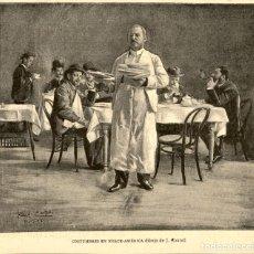Arte: 1887 - COSTUMBRES DE NORTE AMERICA - J. CONTELL - LA ILUSTRACIÓN ARTISTICA. Lote 267245099