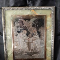 Arte: PLANCHA DE COBRE PARA GRABAR. LA SAINTE FAMILLE D'APRES MILBACHER. Lote 172279357