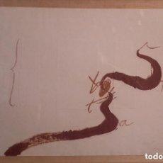 Arte: ANTONI TÀPIES - AGUAFUERTE Y CARBORÚNDUM EN DOS TINTAS CON RELIEVE. Lote 172578504