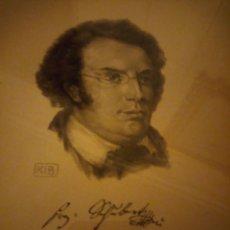 Arte: GRABADO AUTOGRAFIADA DE FRANZ SCHUBERT (1797 – 1828). Lote 172785380