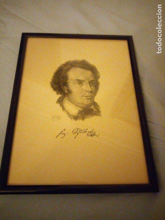 Arte: grabado autografiada de Franz Schubert (1797 – 1828) - Foto 2 - 172785380