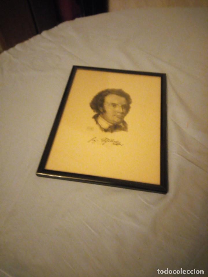 Arte: grabado autografiada de Franz Schubert (1797 – 1828) - Foto 5 - 172785380