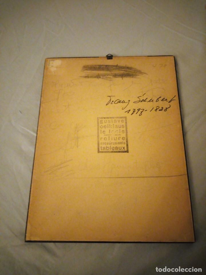 Arte: grabado autografiada de Franz Schubert (1797 – 1828) - Foto 6 - 172785380