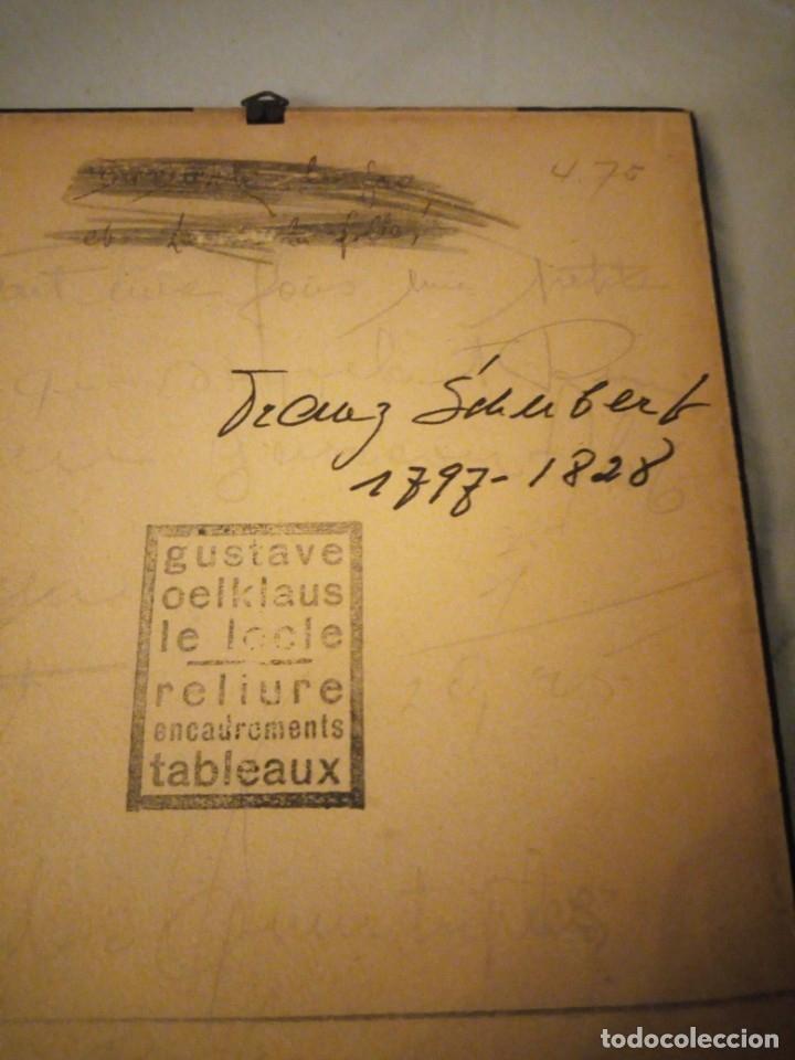 Arte: grabado autografiada de Franz Schubert (1797 – 1828) - Foto 7 - 172785380