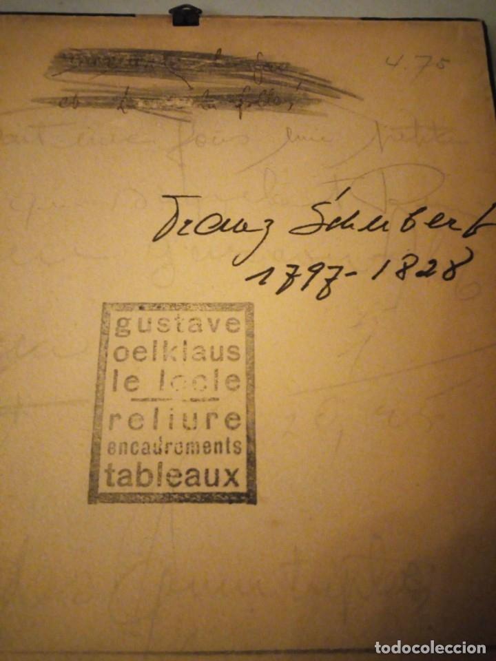 Arte: grabado autografiada de Franz Schubert (1797 – 1828) - Foto 8 - 172785380