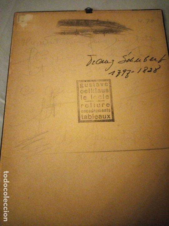 Arte: grabado autografiada de Franz Schubert (1797 – 1828) - Foto 9 - 172785380