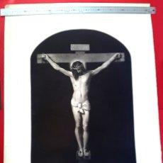 Art: VELÁZQUEZ - CRISTO CRUCIFICADO - GRABADO POR PASCUAL ALEGRE - 1850'S. Lote 172838162