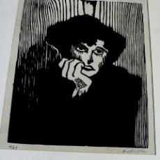 Arte: GRABADO EN MADERA, IMPRESO NUMERADO Y FIRMADO. Lote 172896285