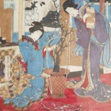 Arte: TOYOHARA KUNICHIKA (JAPÓN,1835-1900,TOKYO) - GEISHAS.GRABADO.1878.. Lote 158801242