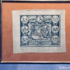 Arte: GRABADO FRANCIA S XVII FRANCOIS CHAUVEAU DUQUE BORGOÑA CEREMONIA A FELIPE VALOIS 36X41CMS. Lote 173023679