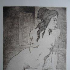 Arte: CELEDONIO PERELLON (MADRID 1926) AGUAFUERTE 30X24,5 PAPEL 49X34CMS FIRMADO Y NUM /100. Lote 173062674