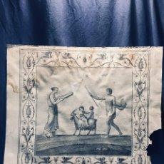 Arte: GRABADO ITALIANO F. SMAGLIEWICZ DISEÑO CARLONI ROMANO FRESCO CLASICO NIÑOS CABRA FRISO S XVIII 50,5C. Lote 173063179