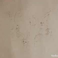 Arte: LEONOR FINI. GRABADO 40X50 PAPEL 68X52.EA. FIRMADO A LÁPIZ. PERFECTO. NUNCA ENMARCADO.JEUNES FILLES.. Lote 173371068