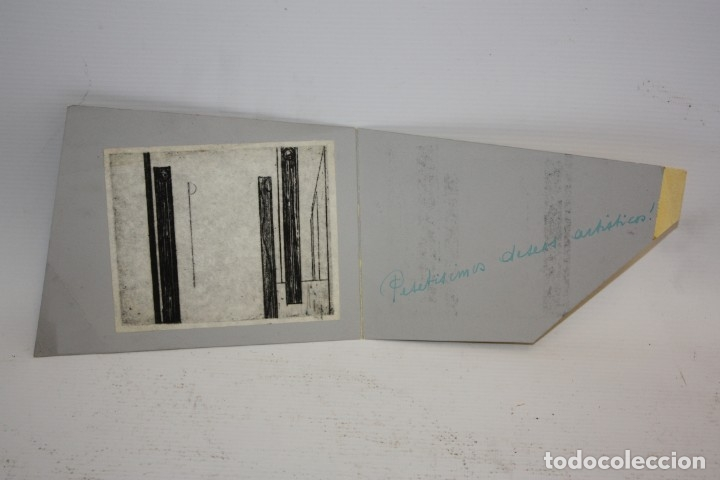 GRABADO - ILEGIBLE - 1960 - CON TAPAS. (Arte - Grabados - Contemporáneos siglo XX)
