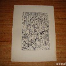Arte: OPISSO GRABADO PAPEL MARCA DE AGUA INGRES DE GUARRO. Lote 173525128