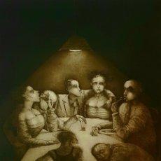 Arte: TETE VARGAS MACHUCA, MAGNIFICO GRABADO FIRMADO.. Lote 173534783