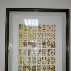 Arte: LITOGRAFÍA-CUADRO-GRABADO-BARAJA DE LOS REYES-MARCO+CRISTALES-PESADO-EXCELENTE. Lote 173931503